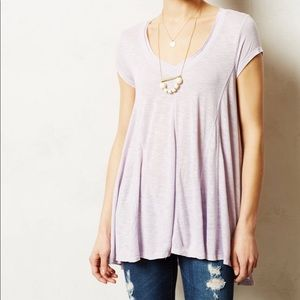 Anthropologie Pure + Good Del Mar Lavender Tunic